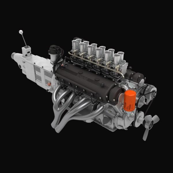 Ferrari V12 Engine (4L) 3D Models