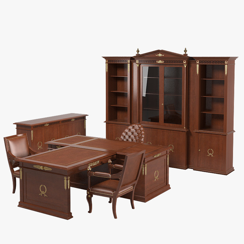 a Classic President Class Office Luxury Furniture claaical empire table chair sideboard cabinet showcase storage.jpg