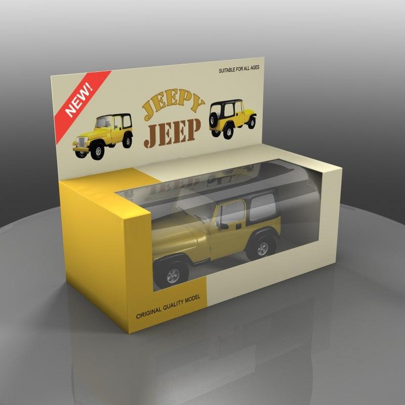 obj yellow toy car