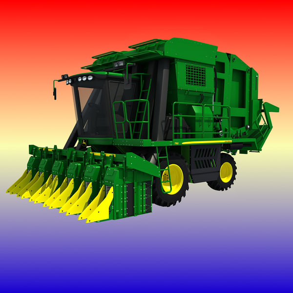 John Deere Cotton Picker Texture Maps