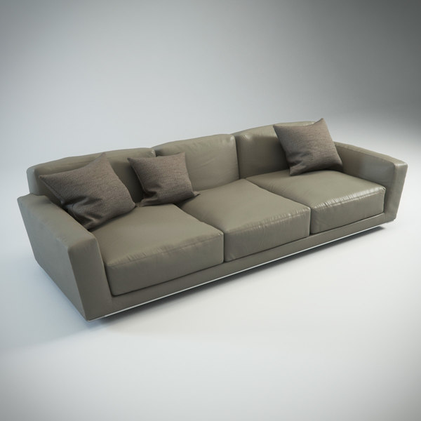 Luis Sofa (three-sitter) 3D Models