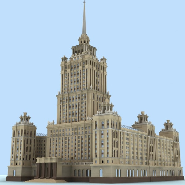 Moscow.Hotel Ukraine 3D Models