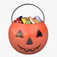 halloween candy bucket 3D models