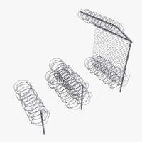 Razor Wire fence 3D models