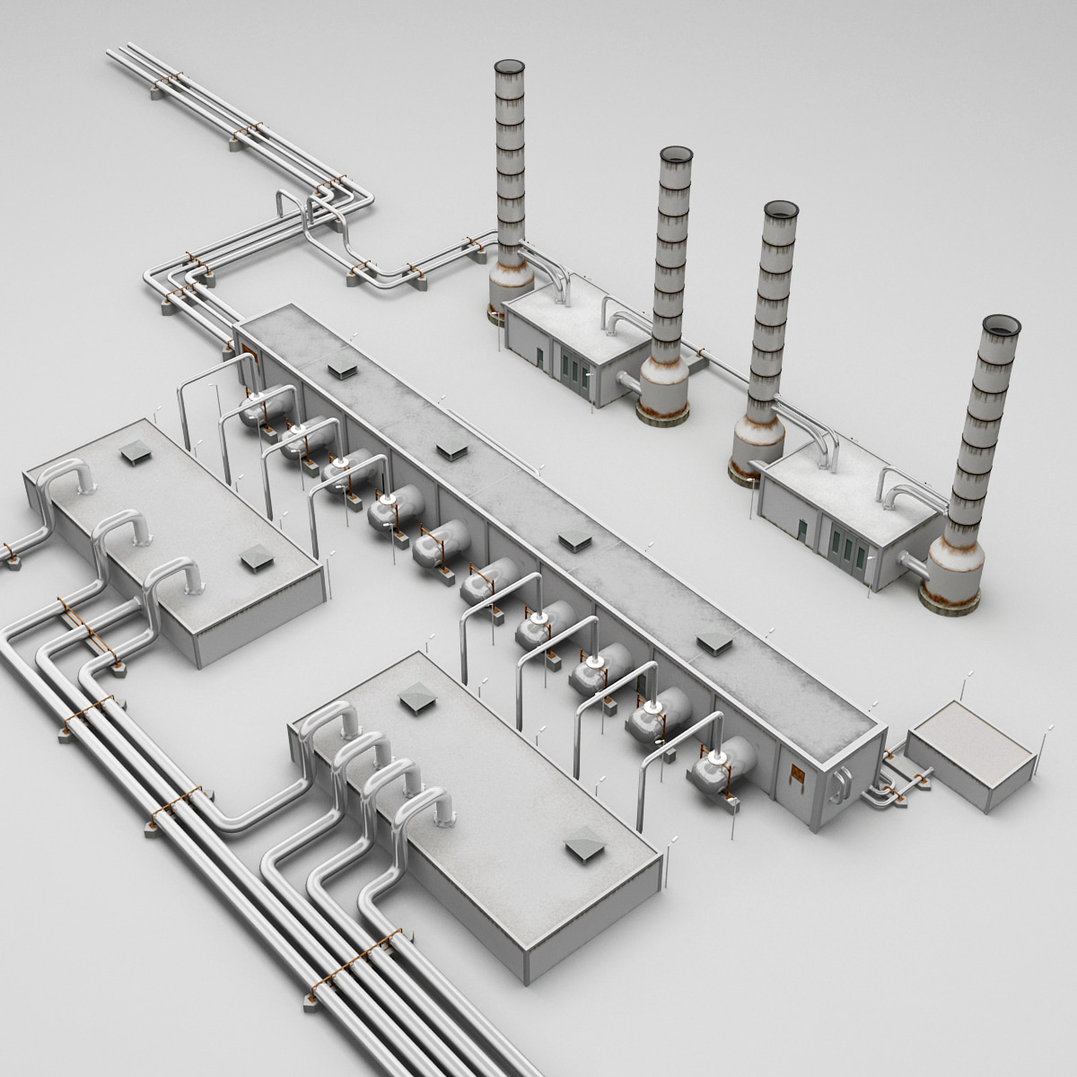 Geothermal Power Plant Model 3d Model of Geothermal Power