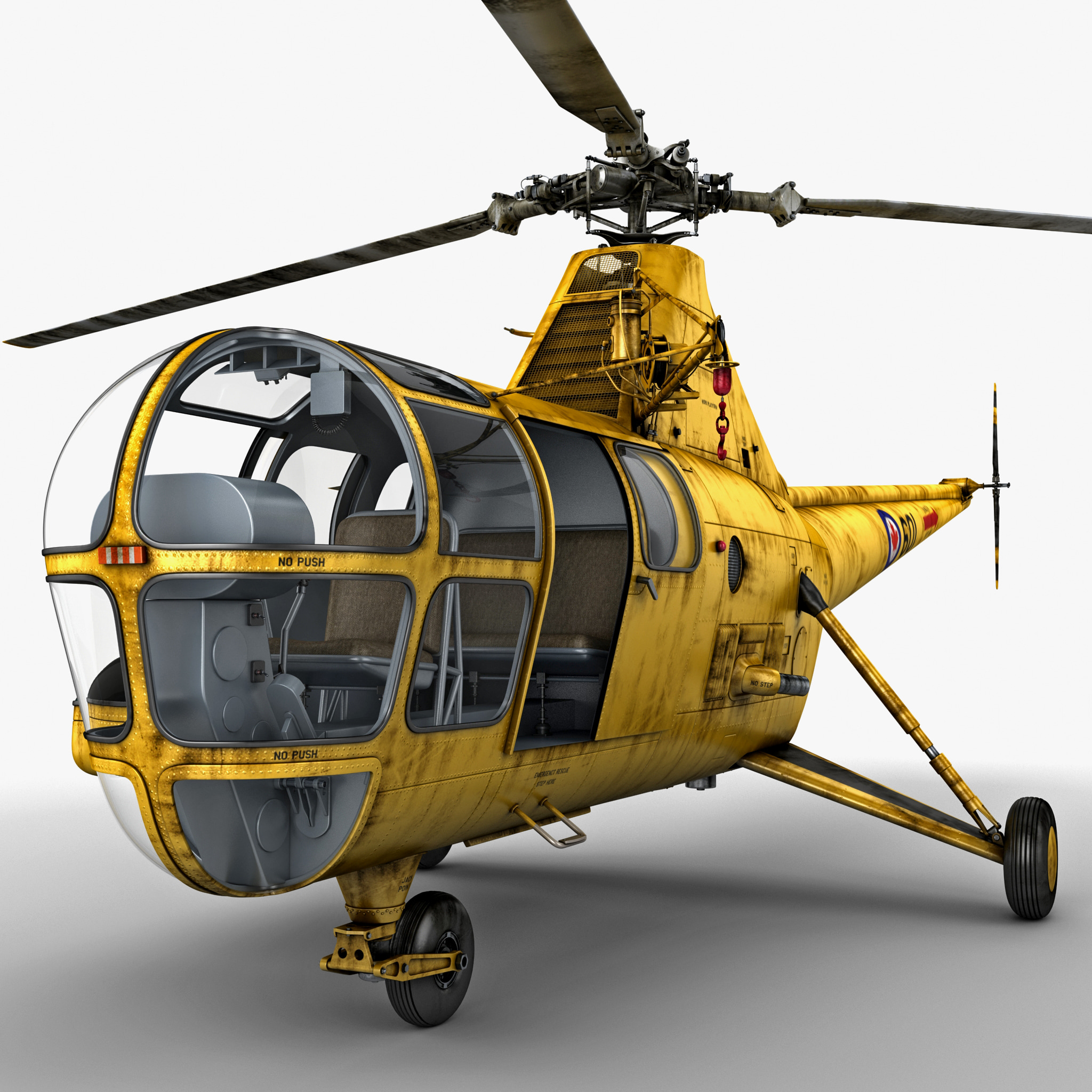 Sikorsky H-5 2 Rigged