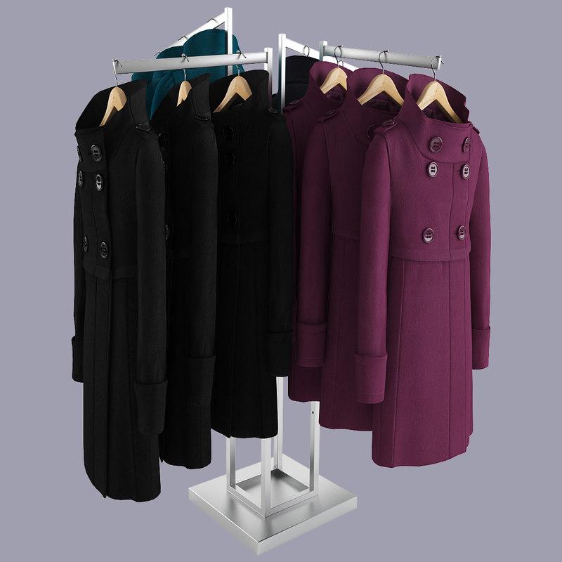Female Realistic Coat Rack