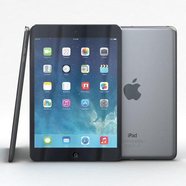 Apple iPad mini 2 Space Gray 3D Models
