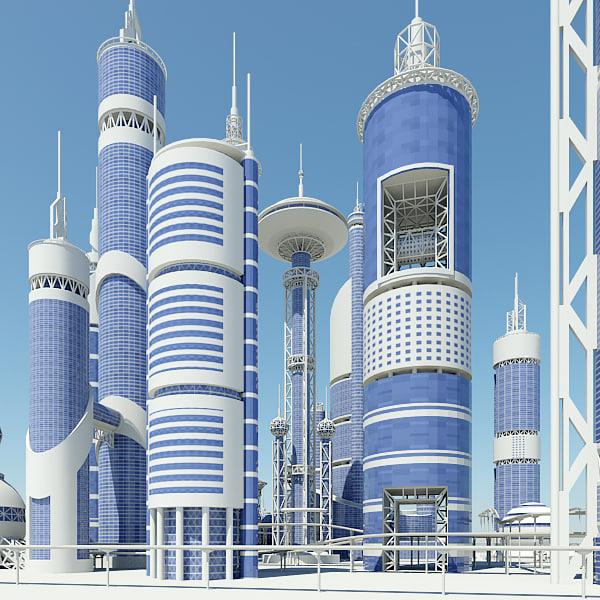 Futuristic City 3D Models