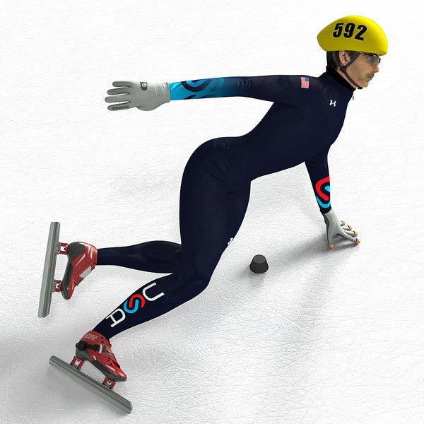 Short Track Player 3D Models
