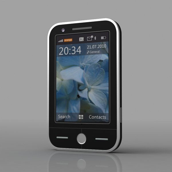 Generic Touch Screen Cell Phone 3D Models