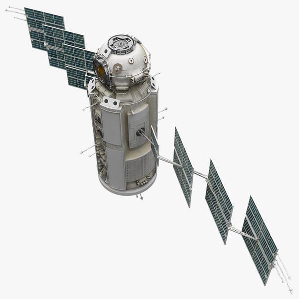 Space Functional Cargo Block Zarya Rigged 3D Models