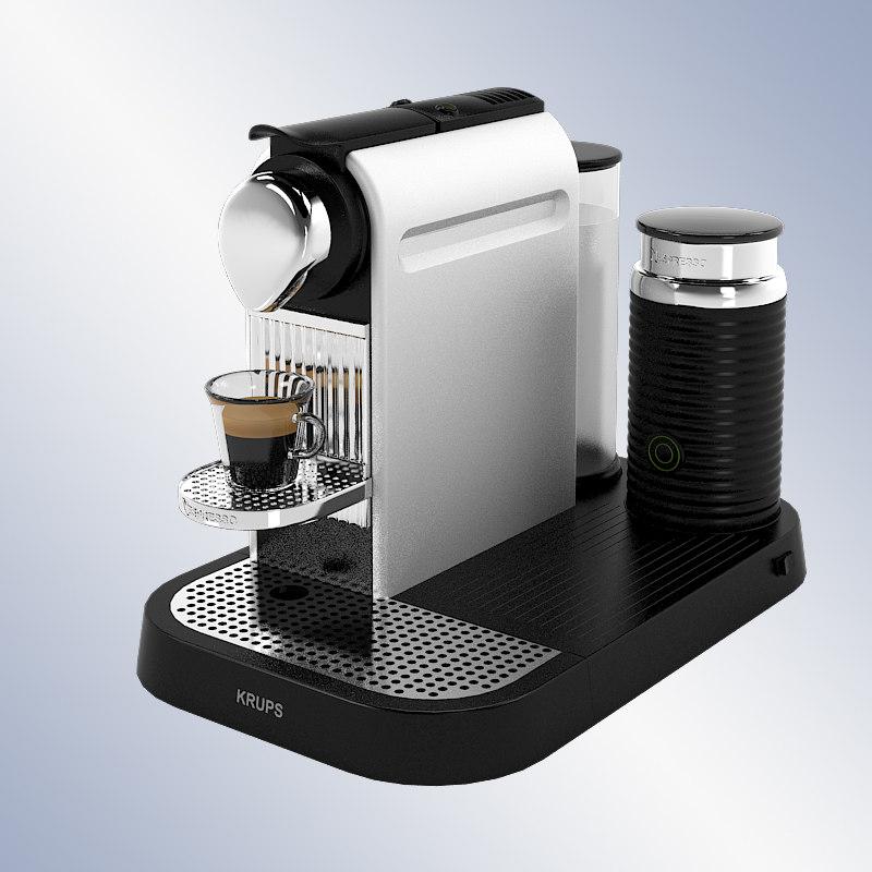 krups xn 7102 nespresso 3d model. Black Bedroom Furniture Sets. Home Design Ideas
