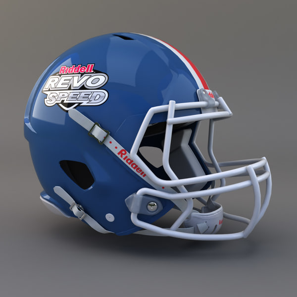 Football Helmet Riddell Revo Speed 3D Models