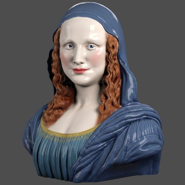 Mona Lisa Bust 3D Models