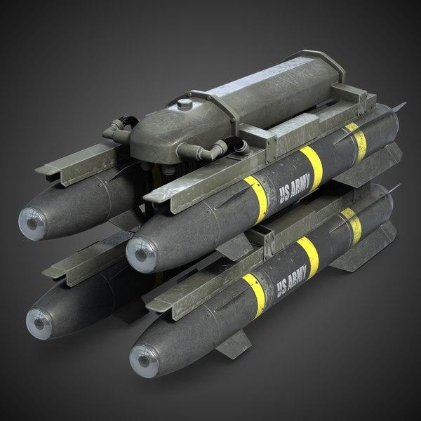 Hellfire Missile Launcher M299 3D Models