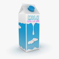 milk carton 3D models