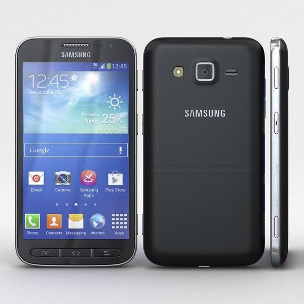 Samsung Galaxy Core Advance Deep Blue 3D Models