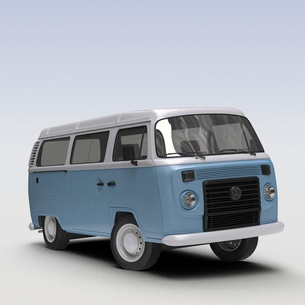 VW T2 Kombi 2013 3D Models