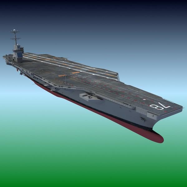 USS Gerald R. F Aircraft Carrier CVN-78 3D Models