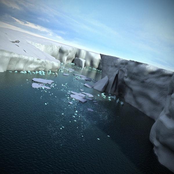 Antarctica Icebergs Landscape Ice 3D Models
