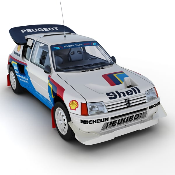 Peugeot 205 T16 Rally Car 3D Models