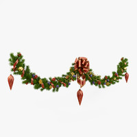 christmas wreath 3D models