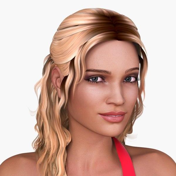 Nicole (European Woman) 3D Models