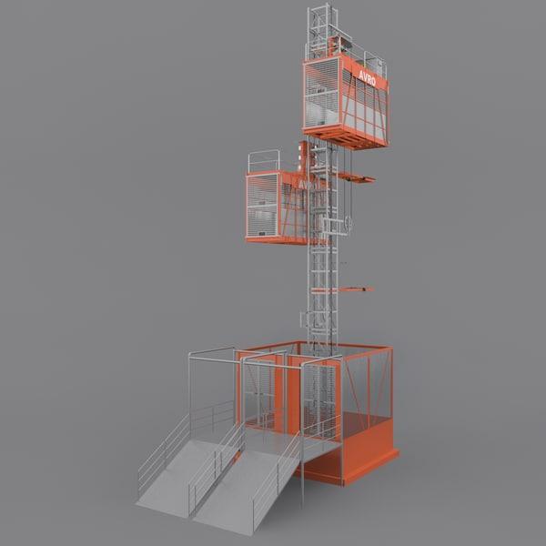 Material Hoist Rigged 3D Models