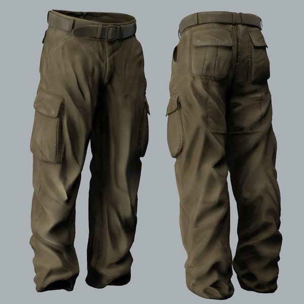Man's Trousers - Military Style 3D Models
