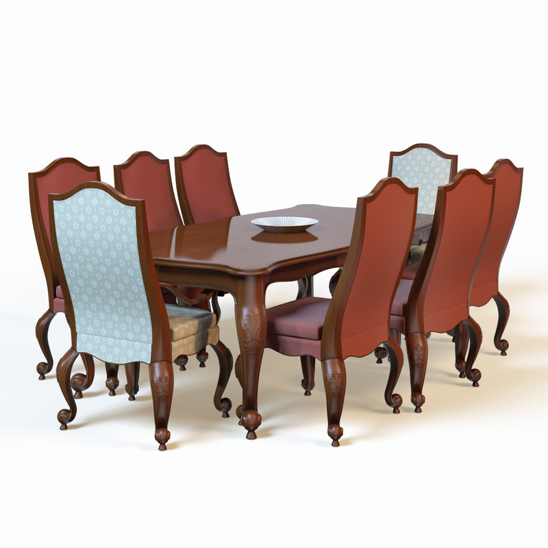 3d dining table model for Dining table models