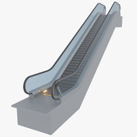 escalator 3d models