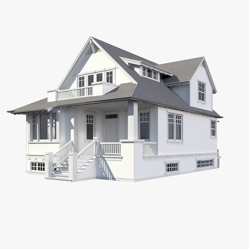 3d family house model 3d model house design
