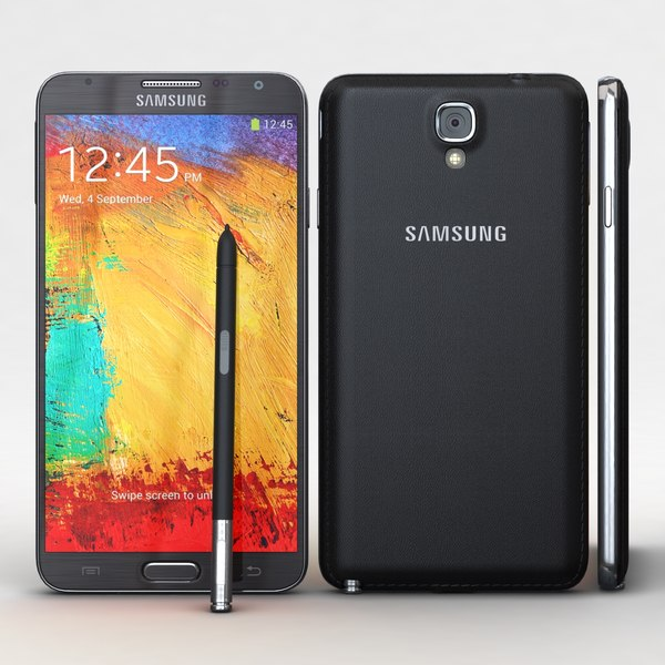 Samsung Galaxy Note 3 Neo & Duos Black 3D Models