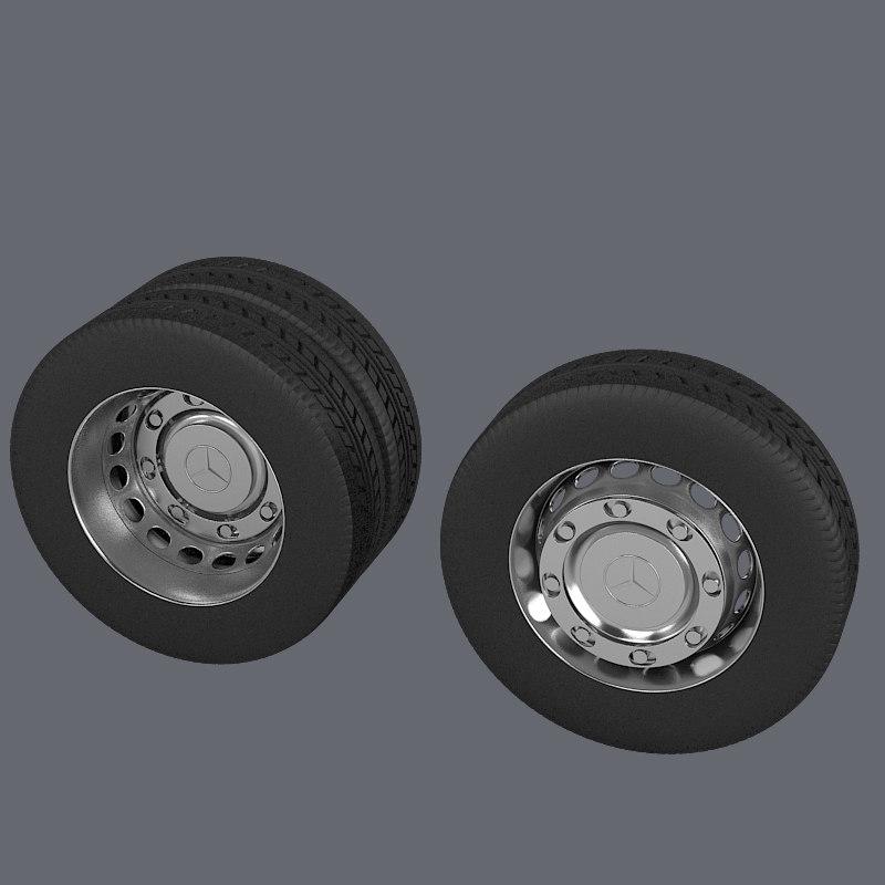 Wheel 3d Model 3d Model Heavy Truck Wheel Set