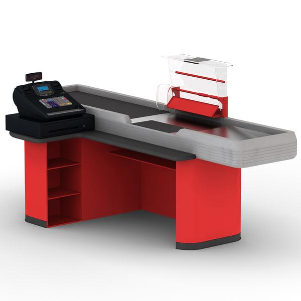Cash Counter 2 3D Models