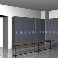 Locker Room 3D models