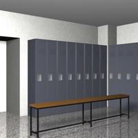 Locker Room 3D models