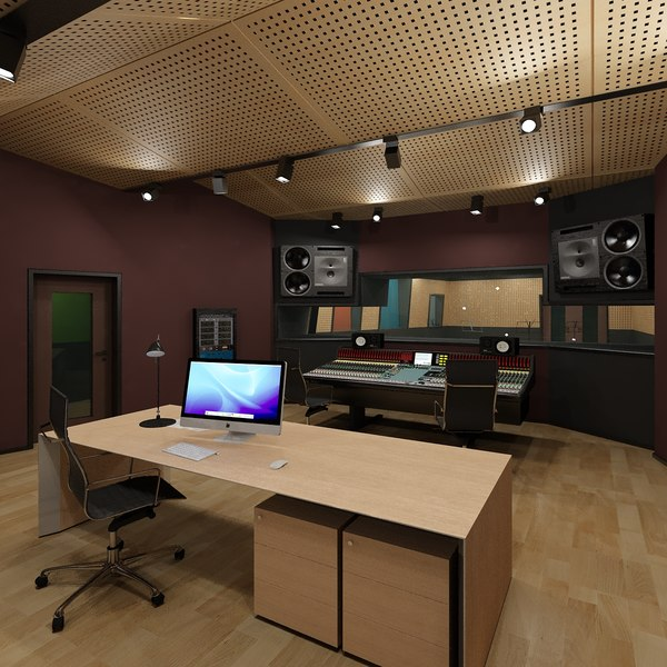 Recording Studio 3D Models
