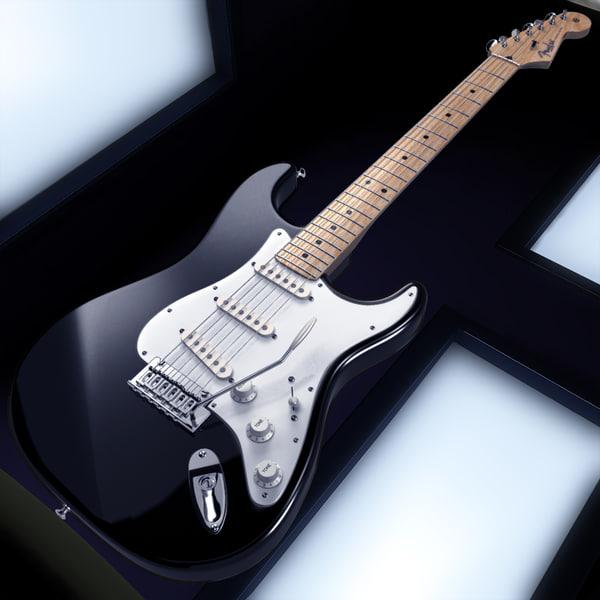 Fender Stratocaster -Blackie- 3D Models