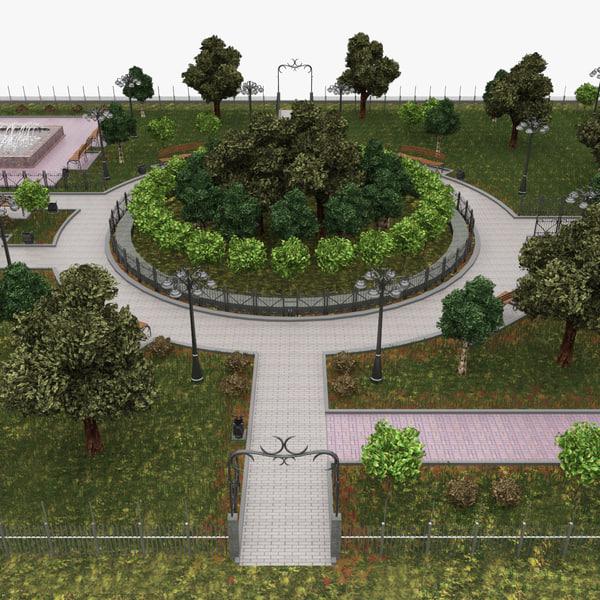 Small Park 3D Models