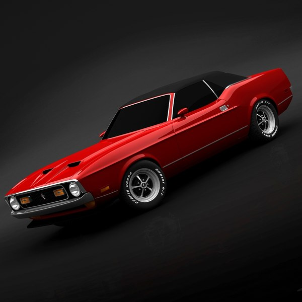 1972 Ford Mustang Convertible 3D Models