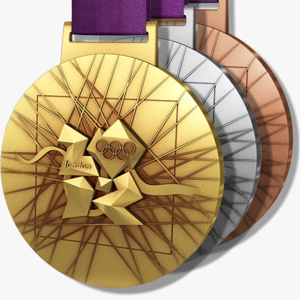London 2012 Olympics Medals 3D Models