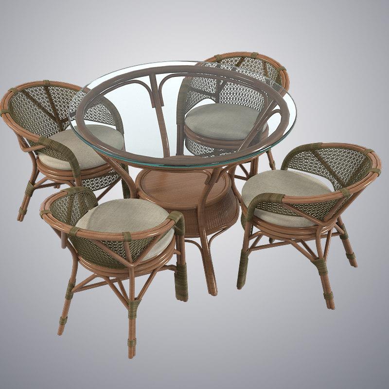 3d garden furniture set. Black Bedroom Furniture Sets. Home Design Ideas