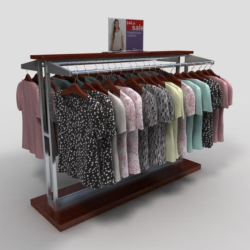 Womens Blouse Display Rack
