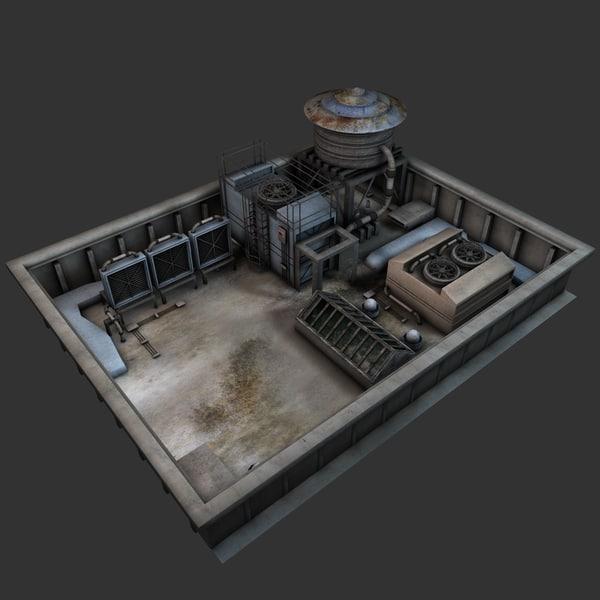 Rooftop Environment 3D Models