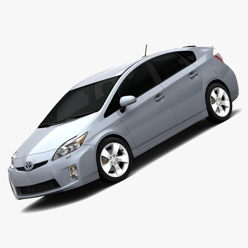 2010 Toyota Prius Interior 3d Max