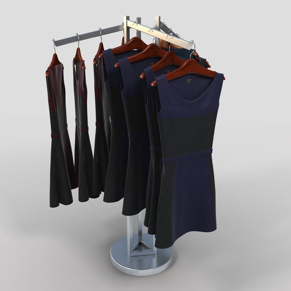 Rack Of Dresses 6 3D Models