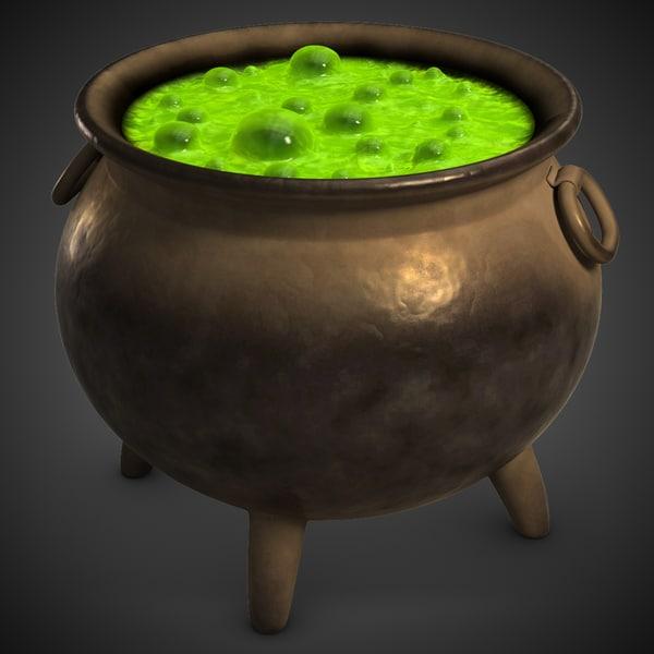 Witch Magic Pot 3D Models
