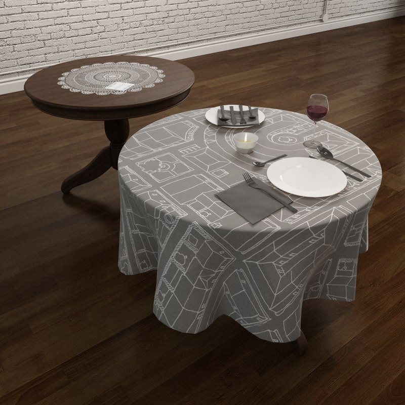 Round Table and Tableware